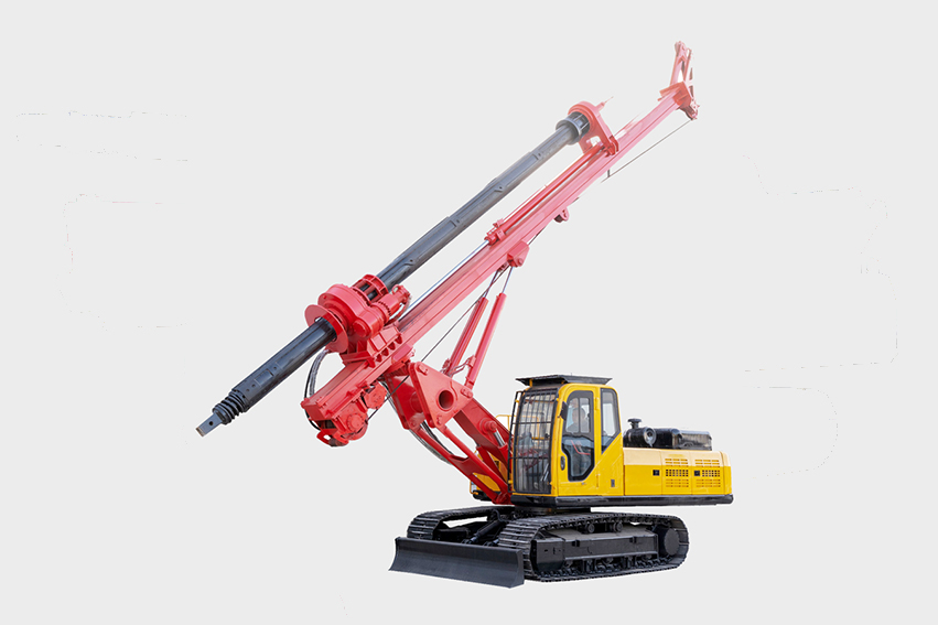 Kelly bar DR-100 rotary drilling rig concrete pile driving