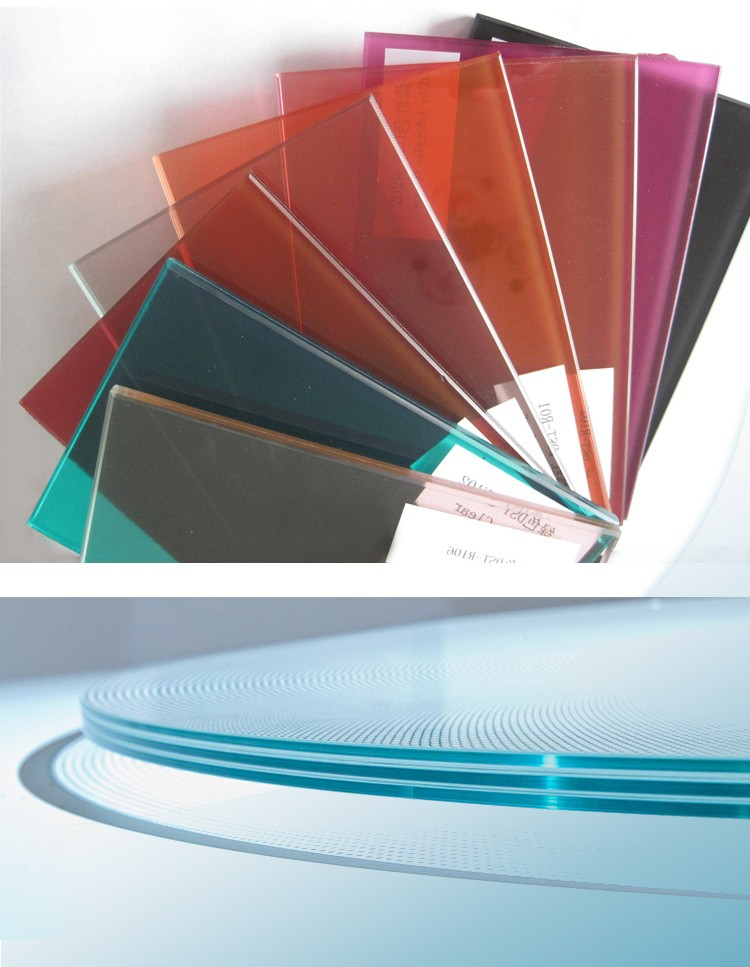 Colored laminated glass
