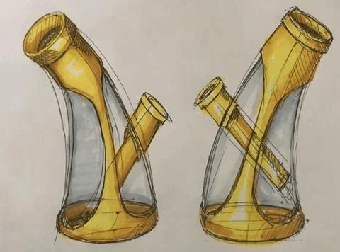Design Manuscript of Waxmaid Horn Water Pipe