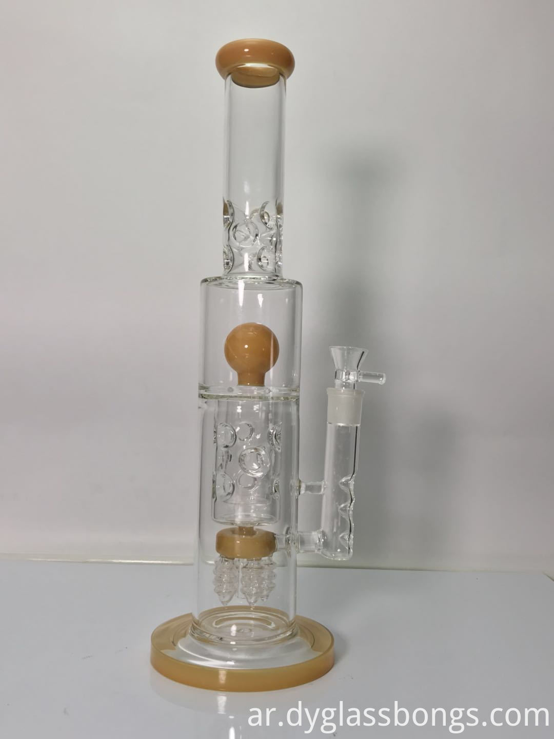 Two layer bird's nest recycler glass bongs