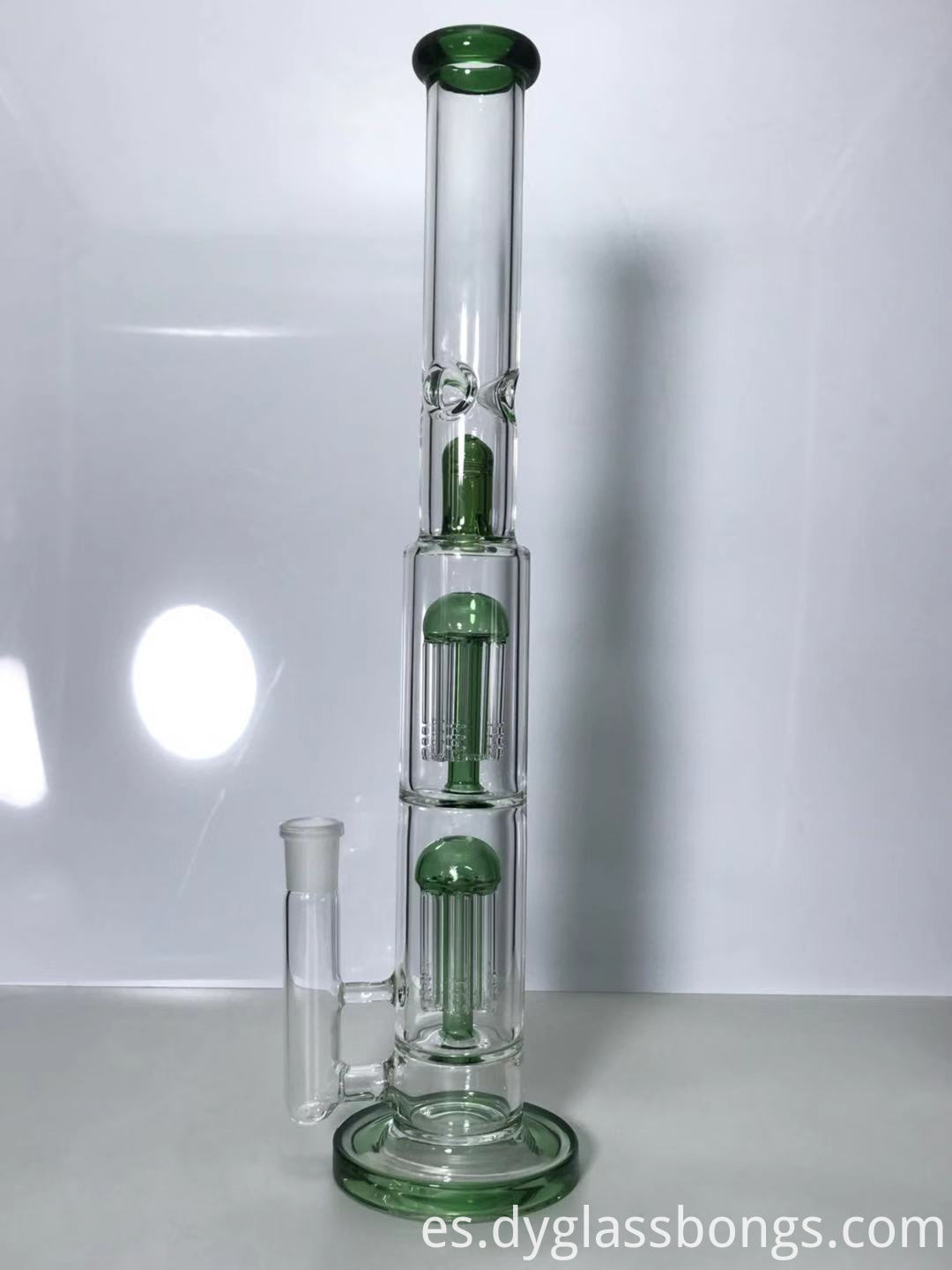 "15"" Tall Green Oil RigsGlass Bongs"