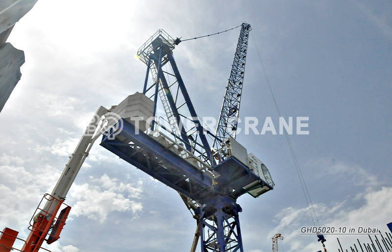 Luffing Tower Crane GHD5020-10 in Dubai