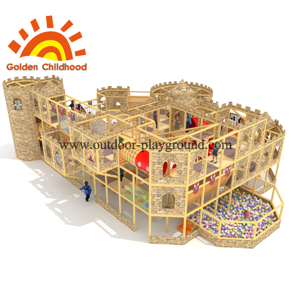 Wooden Castle Indoor Playground Equipment For Children