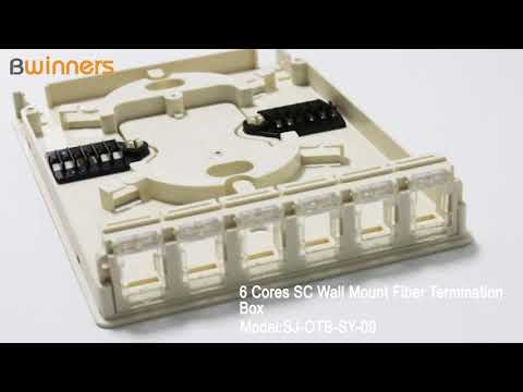 SJ-OTB-SY-09 6 Cores SC Wall Mount Fiber Termination Box