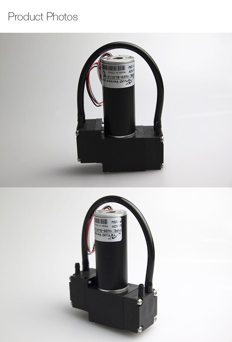 Микродиафрагменный воздушный насос YWfluid 6v 12v 24v, используемый для газоанализатора, с хорошим вакуумом и длительным сроком службы
