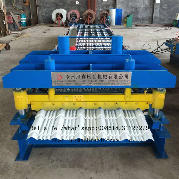 Automatic roll forming glazed tile roof tile machine
