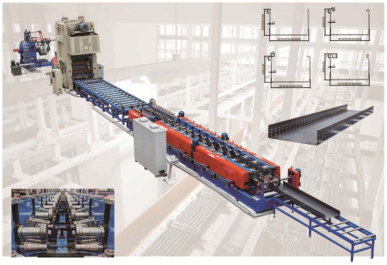 TF CABLE LADDER  ROLL FORMING MACHINE