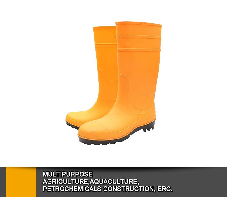 Cheap Yellow Pvc Galoshes,Jelly Water Garden Shoes,Rubber Rain Boots,Waterproof Gum Footwear