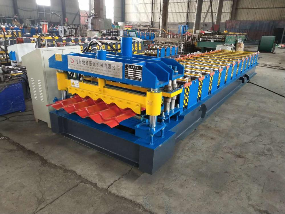 automatic glazed tiles roofing sheet making machine