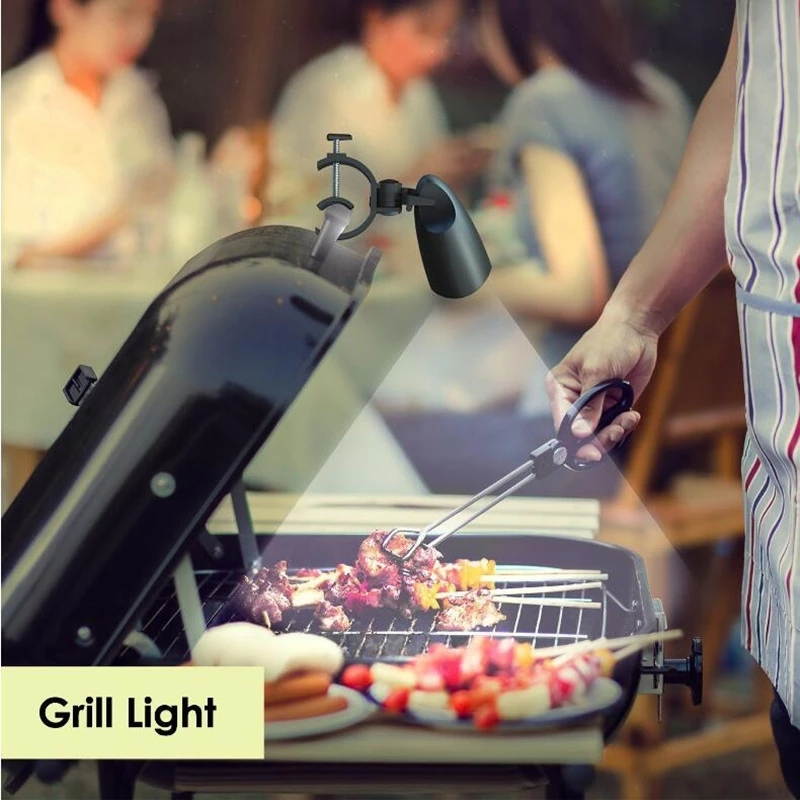 High Brightness 10pcs LED Chips grill light grill lamp for BBQ with rotation head