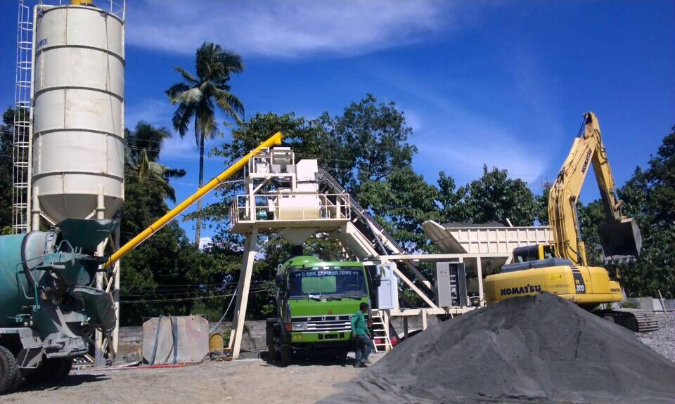 2 set 35 Mobile concrete batching plant were installed & tested successfully in Philippines