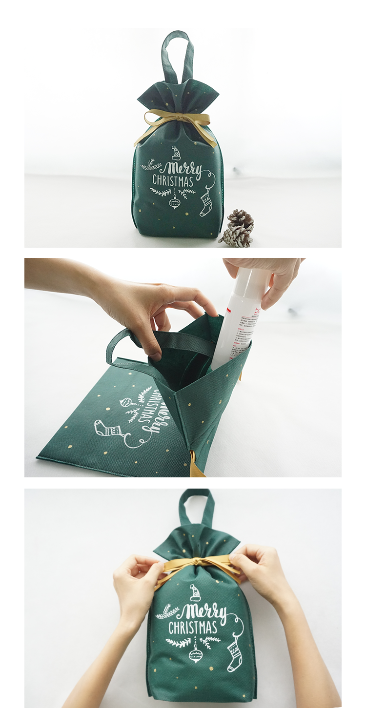 christmas bags with drawstring