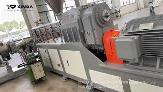 XINDA SJW-100 co-kneader plastic extruder cascade type for PVC compounds