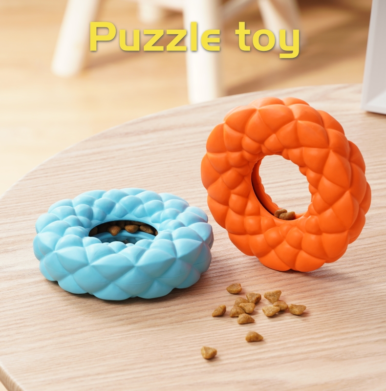 Natural Rubber Tooth Cleaning Ring Chew Dog Toys