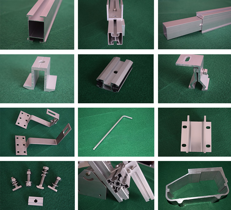 End clamp for 30mm thickness aluminum solar mounting systems