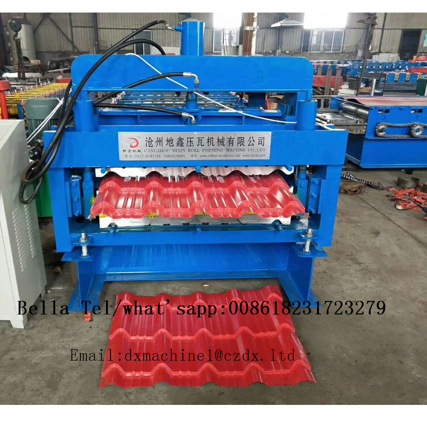 Color Steel Double Layer Roofing Tile Roll Forming Machine