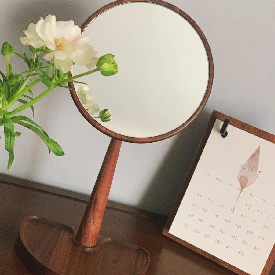 wooden mirror dressing table