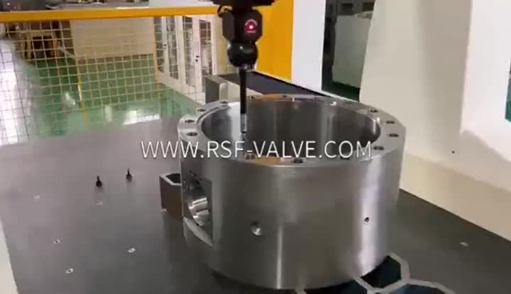 RSF VALVE-CMM Test of Ball Valve Body-Valve Parts.mp4