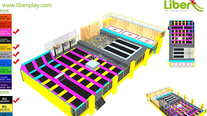 How to build indoor trampoline park