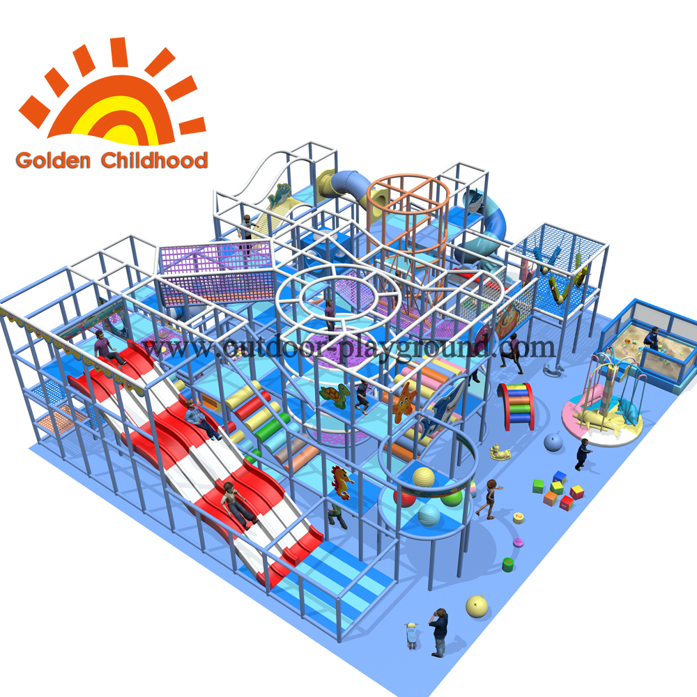 Mid Size Large Trampoline Park Structure