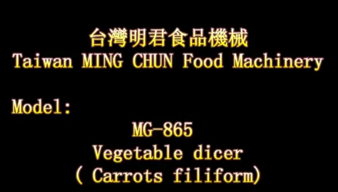 MG 865 Vegetable dicer Carrots filiform