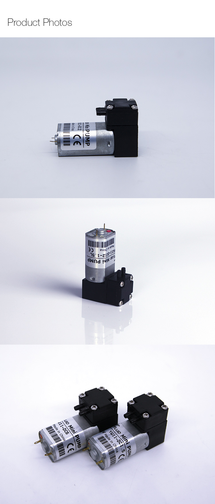 YW11 DC 1.5L Energía eléctrica 0.3Mpa DC mini pulverizador 12v bomba de diafragma micro operado por aire