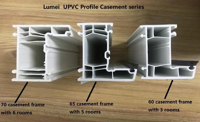 casement series upvc profiles
