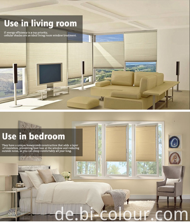 Cordless Window Honeycomb Blinds