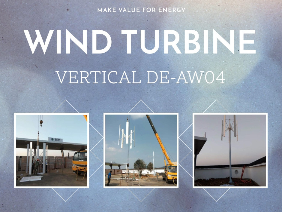 Vertical Axis Maglev Generator Wind Turbine DE-AW04