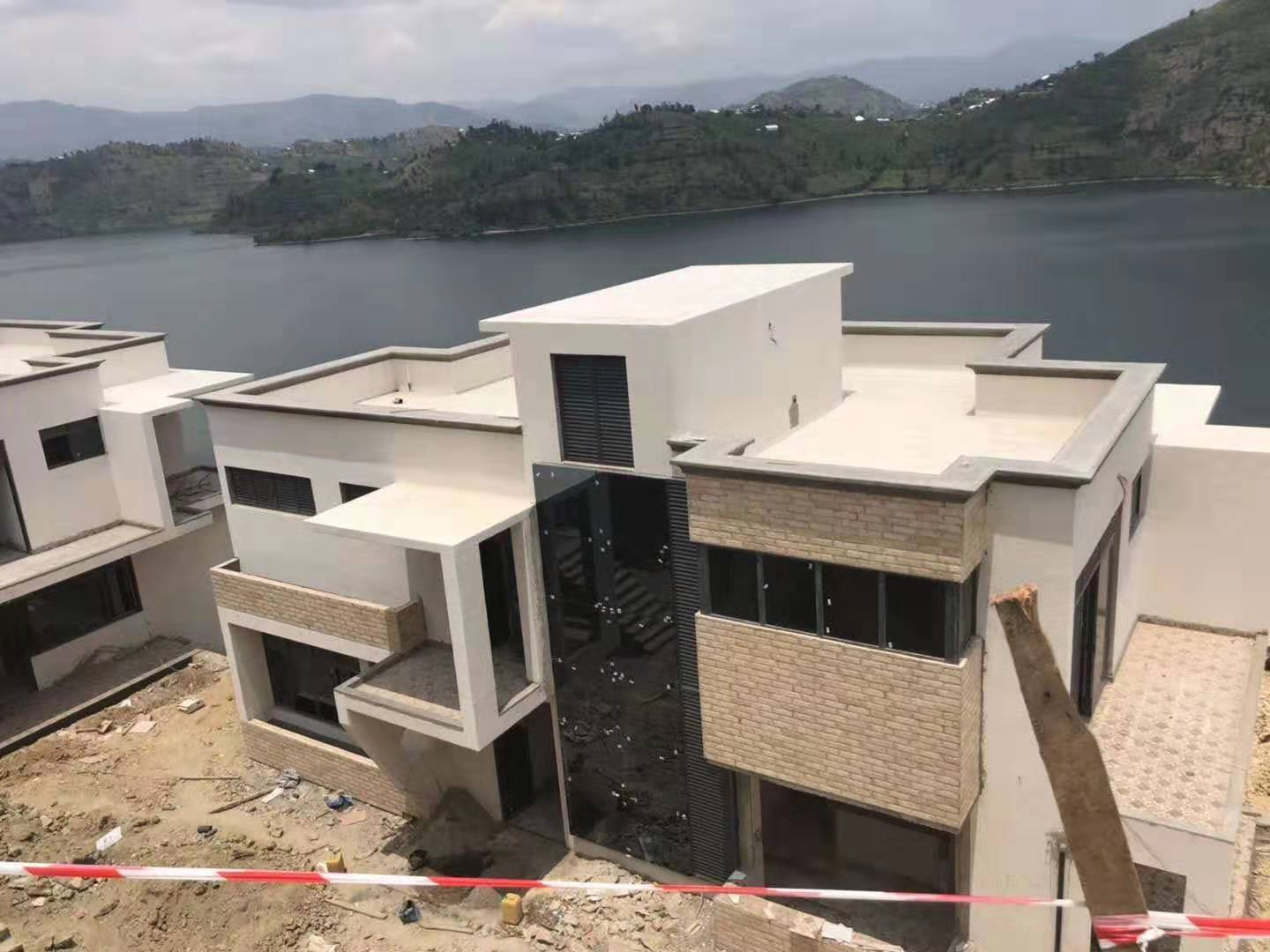 Lake Villa project in Kibuye, Rwanda By Lingyin Construction Materials Ltd