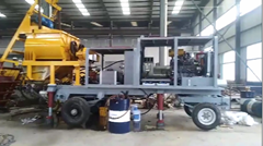 Commissioning video for concrete pump with mixer