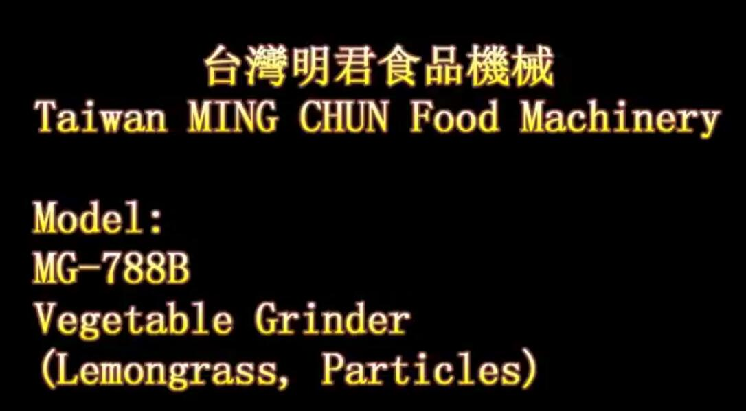 MG 788B Vegetable Grinder Lemongrass, Particles