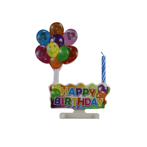 ballon shape happy birthday singing music birthday candle
