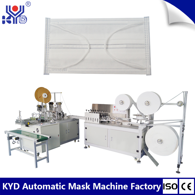 High speed one-plus-one inside earloop mask making machine