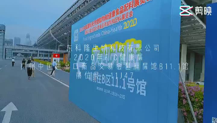 China International Natural Extracts & Health Ingredients Ausstellung im Jahr 2020