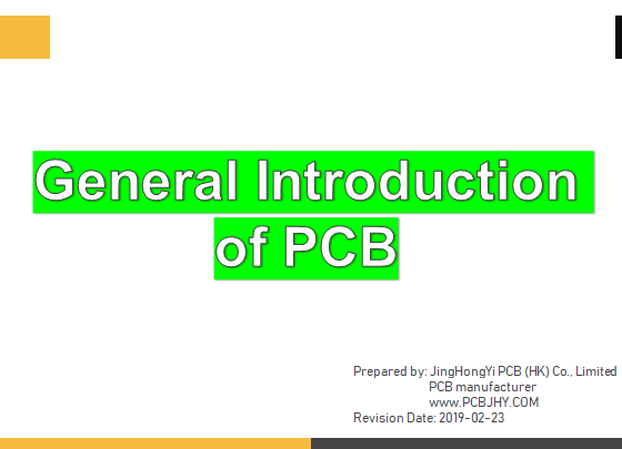 General Introduction of PCB-PCB Manufacturing