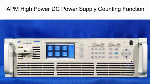 APM High Power DC Power Supply Counting Function