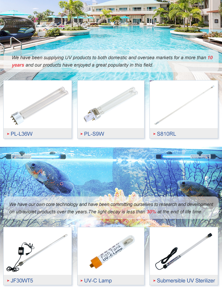 J40WT5 UV Ultraviolet Lamps For Ponds/ Water treatment