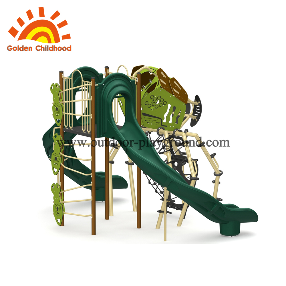 Outside ground play structure theme