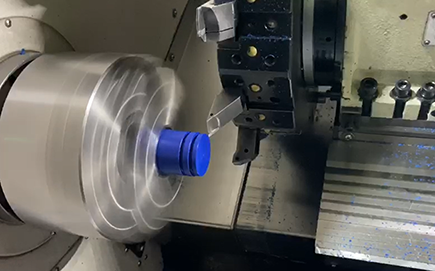 CNC Turning Machining Blue POM