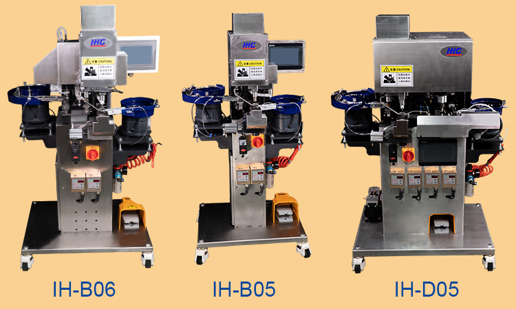 3 KINDS OF BUTTON FASTENER MACHINES