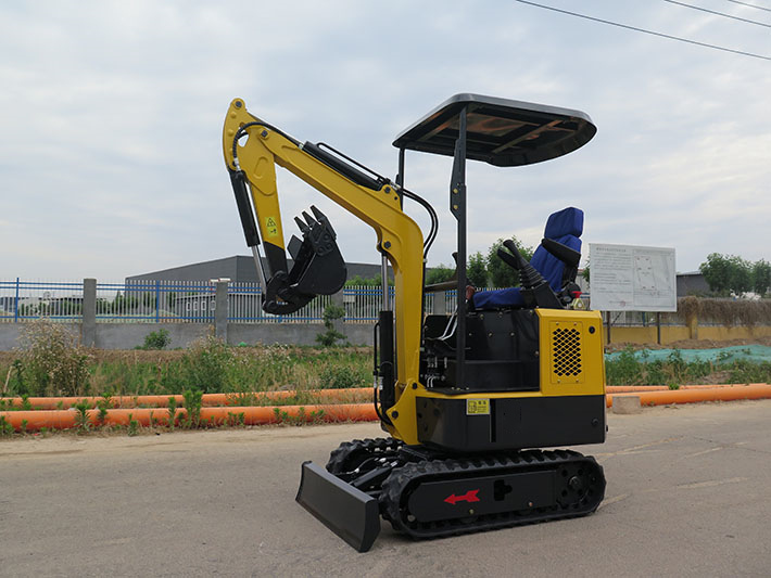 1000kg mini excavator with polit control operation video