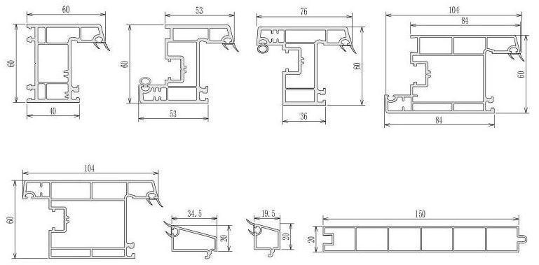 casement windows upvc profiles