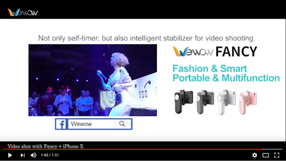 Wewow Fancy portable smartphone stabilizer Let's Party!