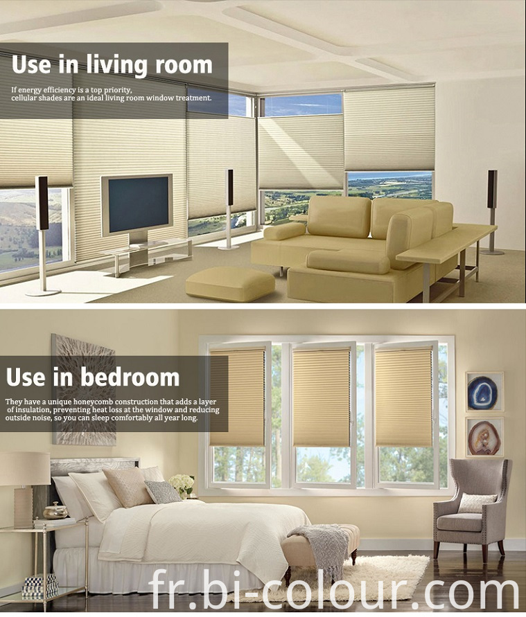 Cordless Window Honeycomb Shades