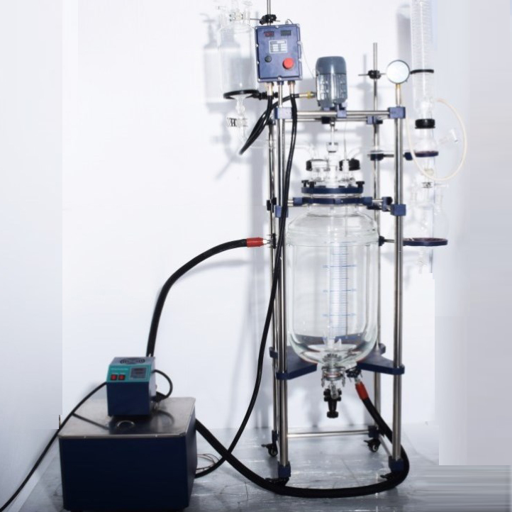 chemical jacketed glass reactor