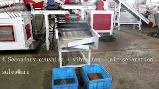 Conveyor belt type 600 copper wire granulator machine