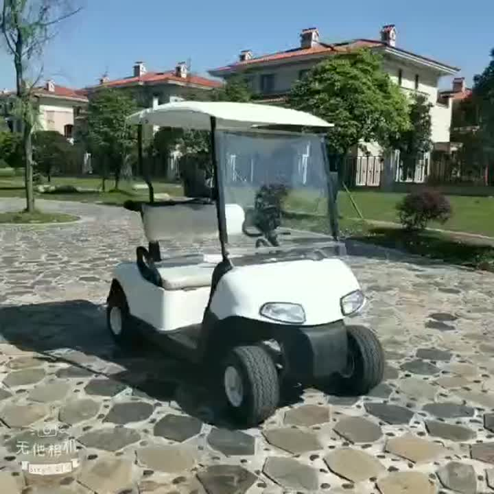 EZGO style 2 seater white electric golf cart video.mp4