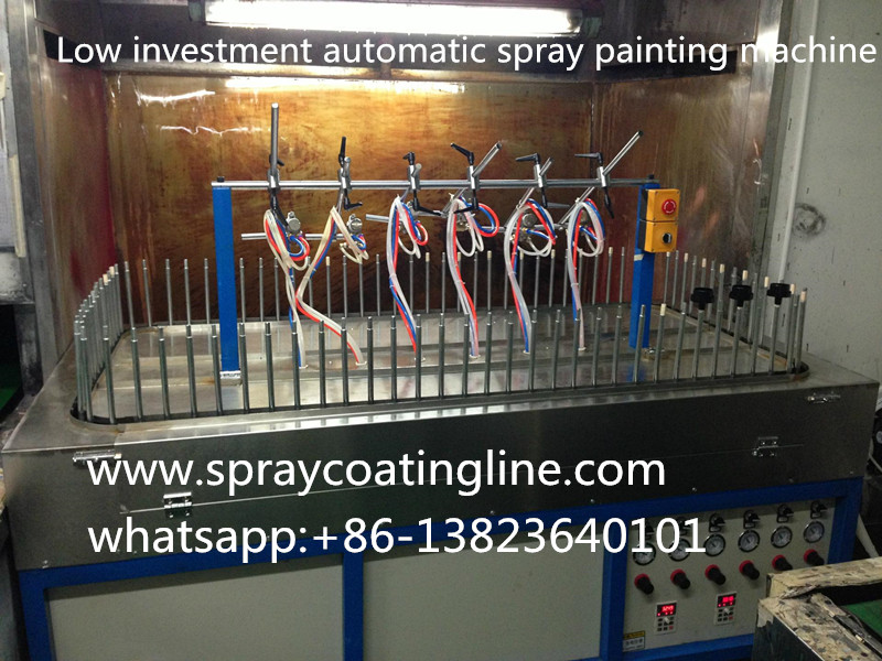 Semi-automatic spray painting line