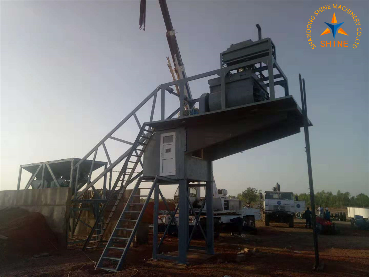mobile concrete batching plant in Burkina-faso, Africa